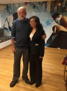 Ông Bob Dietz và Tạ Phong Tần tại trụ sở CPJ (New York)
