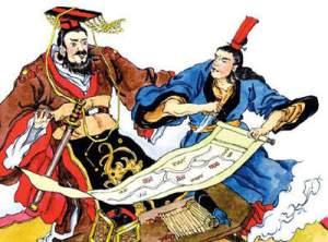 Tranh vẽ Kinh Kha ám sát Tần Thủy Hoàng