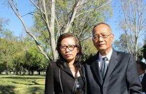 Với anh Nguyễn Văn Khanh dự đám tang cố nhạc sĩ Anh Bằng