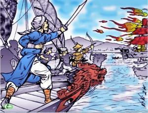 Trần Nhật Duật đánh trận Hàm Tử