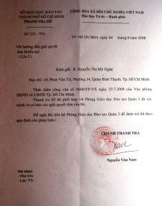 Công văn chỉ đạo của HĐND và UBND TP HCM. Cái mà so với Thông tư liên tịch 55/2005/TTLT-BNV-VPCP thì không biết phải gọi là gì của Thanh tra Sở GD-ĐT TPHCM