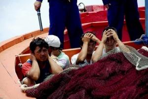"""Ngư dân Lý Sơn bị """"tàu lạ"""" bắt hồi tháng 7/2009"""