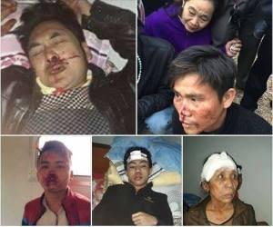 Giáo dân Song Ngọc, Nghệ An đi kiện Formosa bị nhà cầm quyền Cộng nô chận đường đánh đập.